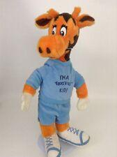 "Vintage 80's Toys R Us Geoffrey Giraffe Plush ""I'm A Toys R Us Kid"" Blue Outfit"