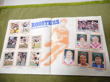 #T90. 1983  EASTERN SUBURBS ROOSTERS  RUGBY LEAGUE STICKERS ON ALBUM PAGES