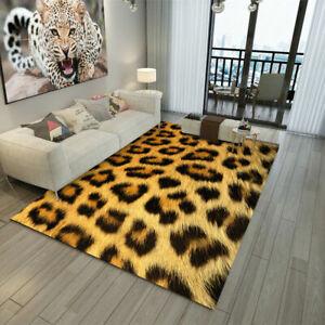 3D Leopard Print Rug Doormat Floor WC Bedroom Mat Carpet Animal Print