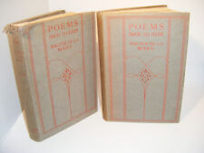 Walter De La Mare: Poems 1901 - 1918 - Volumes 1 & 2 -1st Edition c/w d/j -1920