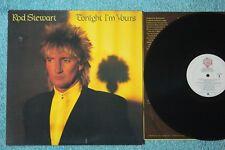 Rod Stewart Tonight I'm Yours 1981 NM Vinyl Lyric sleeve