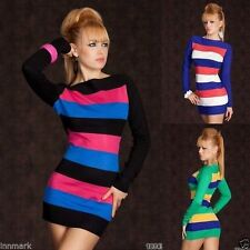 Boat Neck Party Striped Dresses for Women