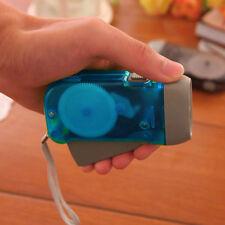 Hand Pressing 3 LED Crank Power Dynamo Wind Up Flashlight Torch Night Lamp w!