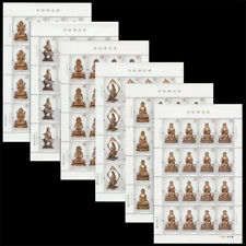CHINA 2013-14 Gold Bronze Buddha Statues stamps full sheet