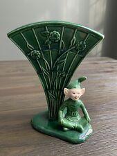 Vintage Treasure Craft Pixie Trumpet Vase Elf 5 3/4� Tall