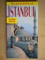 Istanbul Guida con pianta della cittàDe Agostini1994marco polo viaggi turchia