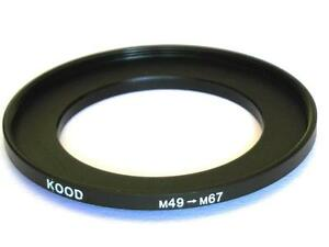 STEP UP ADAPTER 49MM-67MM STEPPING RING 49MM TO 67MM 49-67 FILTER ADAPTER