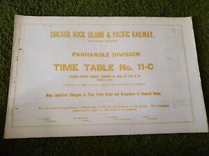 Chicago Rock Island & Pacific Panhandle Division TT #11-C (1/16/1910)(Used)