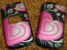 CuTe PINK HEART Rubberized Hard Snap-on Case Cover for LG Envoy UN150, 221C 235C
