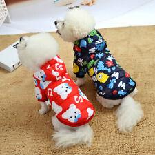 Allacki Cartoon Printing Winter Pet Coat Cute Keep Warm Dog Cotton Clothes