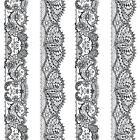 P&S International Catherine Lansfield Lacet papier-peint rayé orné Motif W-B