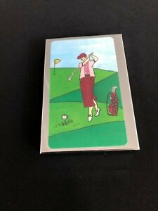 Personalized Expression Business Card Holder Golf Edition with Calculator