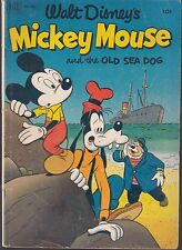 MICKEY MOUSE -OLD SEA DOG  #411 1952 'WALT DISNEY' VG-  DELL, 4-COLOR