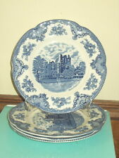 "FOUR Johnson Bros. Old Britain Castles Dinners- Blue - 9 7/8"" - 8 Available"