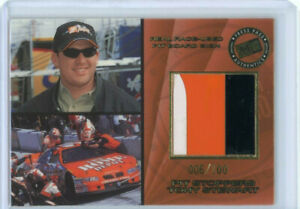 TONY STEWART 2001 01 PRESS PASS PIT STOPPERS RACE-USED PIT BOARD SIGN #ED 6/100