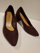 Christian Siriano Women's Luna  purple Violet Block Heel Pump Shoes  size 9m