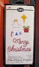 New listing Sizzix Christmas Ornaments & Phrase Set #656265