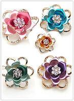 Très belle rose / tulipe broche fleur, plusieurs couleurs
