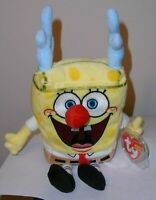 Ty Beanie Baby - SPONGEBOB SLEIGHRIDE (SQUAREPANTS) MINT with MINT TAGS