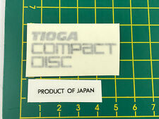 old school bmx decals stickers, Tioga compact disc rub on and black on clear