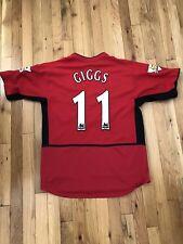 Nike Ryan Giggs Manchester United Jersey, Medium, 03-04, Shirt