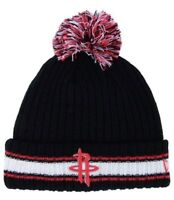 New Era NBA Houston Rockets Winter Hat Knit Basic Chunky Pom Beanie OSFA Black