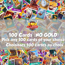 Coin Master - 100 Cards (ALL SETS! ANY CARDS!)