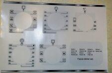 ARISTON FZ 61.1, FZ 62, FZ 65 etc fascia sticker set worn fronts, plus others.