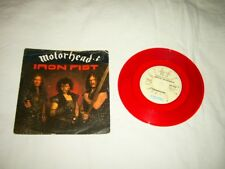 MOTÖRHEAD --- very rare original 1982 IRON FIST 7'', RED Vinyl !!