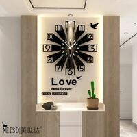 Acrylic Stickers Wall Clocks Silent 3D Living Room Home Decorations Quartz Watch