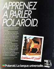 Publicité Advertising 088  1985   appareil photo Polaroid  SLR 680