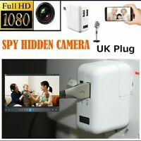1080P HD Camera Security 2 Port Wall USB Charger Plug Video Hidden UK Plug NEW