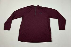 Under Armour 1/4 Zip Athletic Track Jacket Size XL X-Large Loose Burgundy #531
