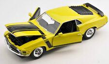 BLITZ VERSAND Ford Mustang Boss 302 1970 gelb yellow Welly Modell Auto 1:24 NEU