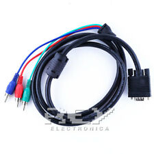 CABLE Adaptador VGA a 3 RCA RGB 1,5 metros M Audio Video Stereo  v147