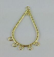 32PCS Gold Plate teardrop Hoop Earrings W/loops #20740
