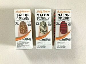 SALLY HANSEN Salon Effects Real Nail Polish Strips Lot of 3 NEW