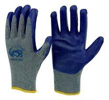 240 pairs wholesale Hung Rui Premium Blue latex coated gray cotton Grip glove
