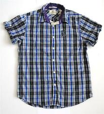 Cotton Collared Checked Slim Casual Shirts & Tops for Men