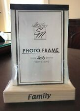 FAMILY PHOTO FRAME 4x6 Special Moments Wooden Base BRAND NEW in Wrapper