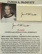 Gemini 4 Apollo 9 Nasa Astronaut Us Air Force General McDivitt Autograph Signed!