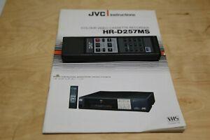 Original JVC HR-D257MS Fernbedienung + BDA für VHS Videorecorder Guten Zustand
