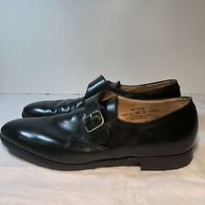 Crockett Jones Monk Strap Malvern Black Leather Men's US 10D Shoes England 72843