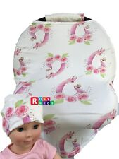 Stretchy Car Seat Canopy Multi Use Cover Baby Beanie Carrying nursing cover pink