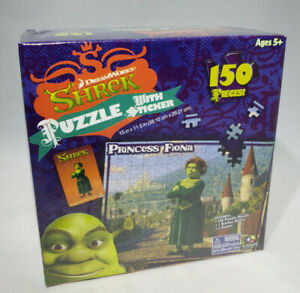 DreamWorks Shrek Fiona 150 Pc Jigsaw Puzzle Stickers Poster Ages 5+ Sealed