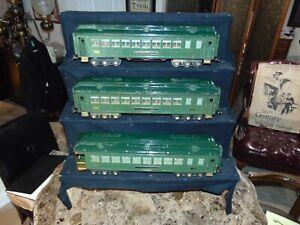 Set of 3 RARE Lionel Original Prewar Green State Set Cars