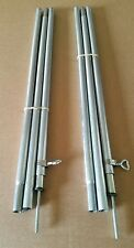 2 ADJUSTABLE UPRIGHT  POLES 6ft to 7ft Free postage to England and Wales