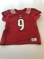 Game Worn Used Louisville Cardinals UL Football Jersey Adidas Size 46 #9