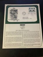 1992 US First Day Cover 29 Cent New York Stock Exchange March 17