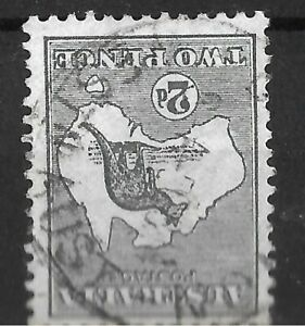 K1496) Australia 1913 2d Deep grey 1st watermark Kangaroo variety 'Watermark inv